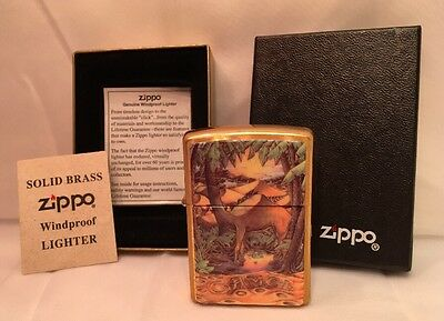 RARE Zippo Lighter Camel Day and Night Double Sided Brass A 1997