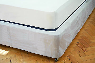 BelledormDivan Bed Base Cover Wrap Valance in Linen Black Chocolate in All Sizes