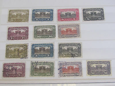Austria stamp collection from an old album