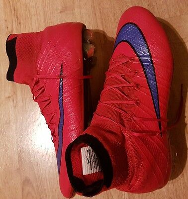 Nike Mercurial superfly SG football boots. Crimson violet black. Size 7