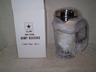 Army Reserve Coffee Cup Jack C.stultz Plastic Over Stainless