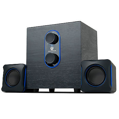 Powerful Bass Subwoofer 2.1 USB PC Computer Laptop Stereo Speaker System iPGONE