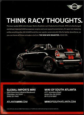 2012 Print Ad for The two-seater Mini John Cooper Works Roadster (051712)