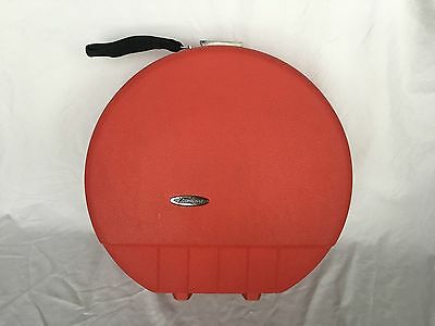 Red Vintage Forecast Round Luggage Hat Box Hard Case Suitcase Small