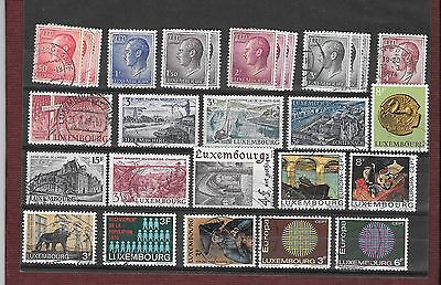 Lot D'anciens Timbres Du Luxembourg + 1 Fdc
