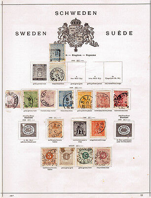 Sweden (pre 1936) on 6 album pages