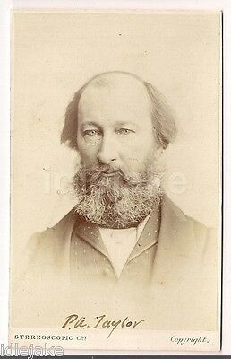 Peter Alfred Taylor MP Victorian Politician & Radical  CDV photo c1870