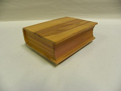 Vintage Fred Zimbalist Wood Book Motif Thorens Music Box (A15)