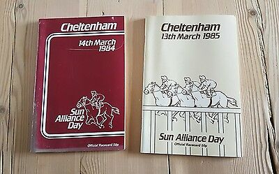 Cheltenham Race Cards 14 March 1984 + 13 March 1985