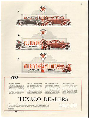 1939 vintage Ad TEXACO DEALERS Fire Chief Gasoline Courtesy and Service (112615)