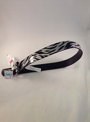 Girls Justice Belt Size XS 6/7 Silver And Black Animal Print