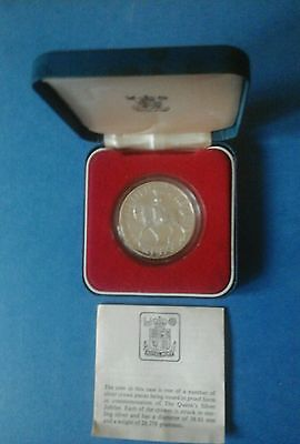 1977 Silver Proof Crown With C.o.a.