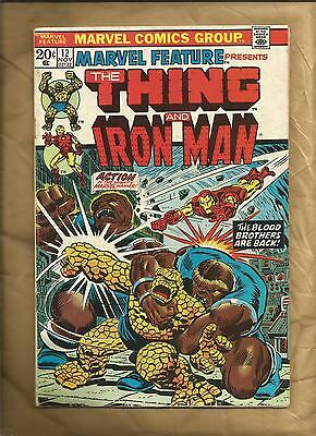 Marvel Feature 12  1973 vg- scarce early Starlin Thanos Cents Marvel Comics
