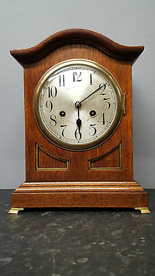 Antique Junghans Solid Wooden Bracket Clock with Strike