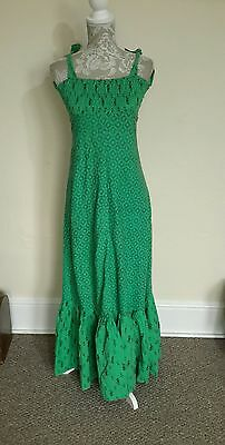 LADIES VINTAGE 70s SUMMER MAXI RARE UNIQUE SIZE 8