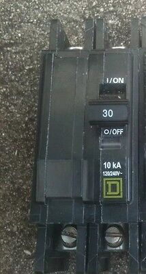 (2) Square D Type Qou 230 30 Amp 240V Circuit Breaker