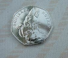 Beatrix Potter Squirrel Nutkin 150 Anniversary  New 50 Pence Coin