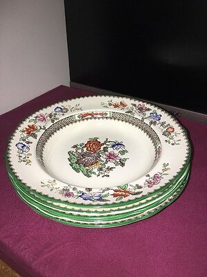 5 X Copeland Spode Chinese Rose Rimmed Pasta Bowls 22.5cm