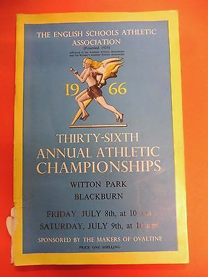 English Schools Athletic Association annual Athletic Champs Programme July 1966