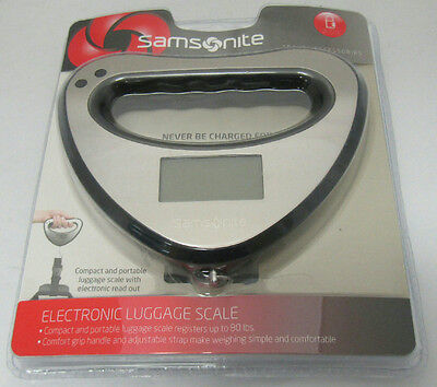 Samsonite Electronic Luggage Scale Travel Accessory Black Silver Sealed