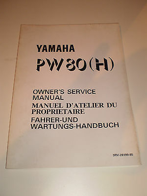 Yamaha Pw80 H 1981 Owners Service Manual