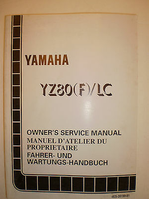 Yamaha Yz80 (F) Lc Owners Service Manual