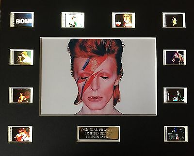 Ziggy Stardust David Bowie 35mm Film Cell Display (a)