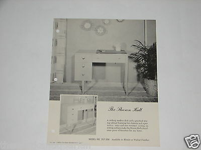 Singer Sewing Machine advertising brochure The Sharon Hall Model #357-358 FREE S