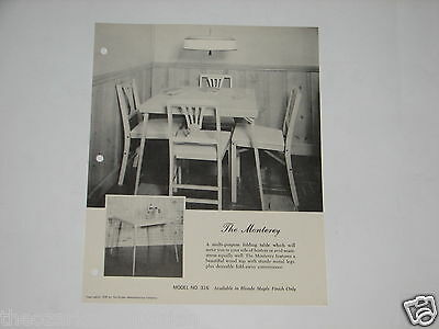 Singer Sewing Machine advertising brochure The Monterey Model #316 FREE SH
