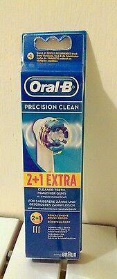 Oral-B PRECISION CLEAN Electric Toothbrush Replacement Brush Head 3 Pack*