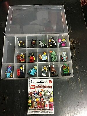 Complete Set Of Lego Minifigures Series 6 In Container/storage Case + Packets