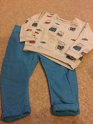 M&S Boys Monster Outfit. Age 12-18 Months. Immaculate Condition