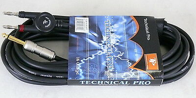 TECHNICAL PRO 1/4'' to Banana Plug 16 gauge 12 foot Speaker Cable