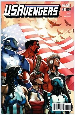 U.s. Avengers #3 1:25 Paulo Siqueira Variant Cover First Print Marvel Comics Nm