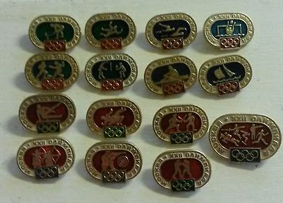 Rare Set of-15 Moskow XXII Olympics Pin Badge Sports Soviet Union Russia Game