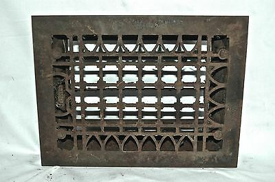 Antique Cast Iron * SIMONDS 1882 WALL GRATE * Vintage Victorian Heat Register