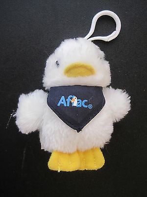 """Aflac Insurance 3"""" Duck Clip-On Keychain Advertising Plush"""