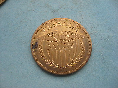 Large Freedom Usa Eagle  Gold Coloured Token Coin