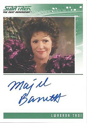 Star Trek Tng Quotable - Autograph Majel Barrett As Lwaxana Troi