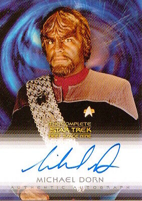 COMPLETE STAR TREK DEEP SPACE NINE DS9 - AUTOGRAPH A3 Michael Dorn as Worf