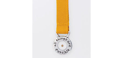 MUSTARD SEED All Things Are Possible Pewter Charm + Ribbon Bookmark Christian
