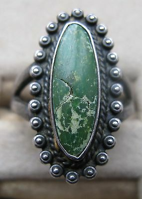 Vintage Native American Indian Sterling Silver Turquoise Ring 8