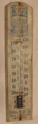 White House Coffee Antique Wooden Advertising Thermometer. Taylor Bros.