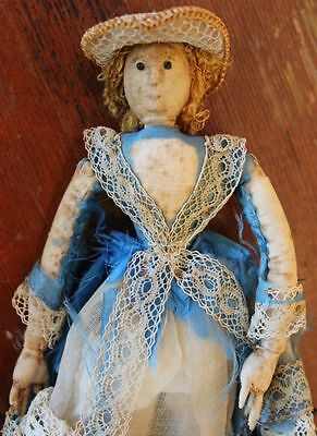 American Antique Handsewn Cloth Doll 1830