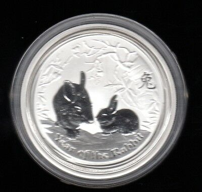 2011 Australia Year Of The Rabbit 50 Cents 1/2 Oz .999 Silver Proof Coin !!!
