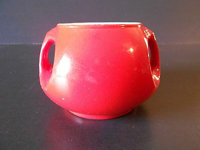 Vintage Hall Red Sugar Bowl w/o Lid Made in USA