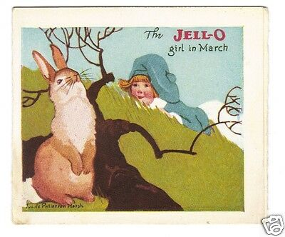 Jell-O Girl In March Recipe Card-Lucille Patterson Marsh 1924