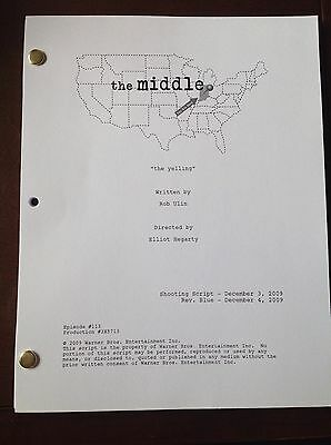 The Middle TV Show THE YELLING Script, 29 Pages. Patricia Heaton, Neil Flynn