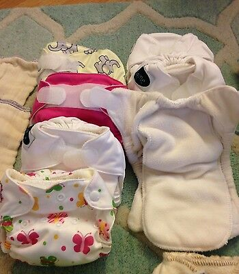 Lot of 7 Imagine All In One Newborn Cloth Diapers