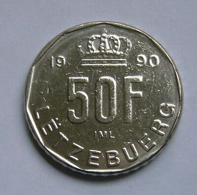 Luxembourg  50 Francs 1990